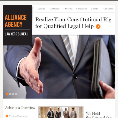 Alliance Lawyers - Facebook HTML CMS Template