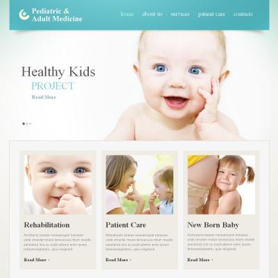 Modèle Moto CMS HTML  pour site de pédiatre