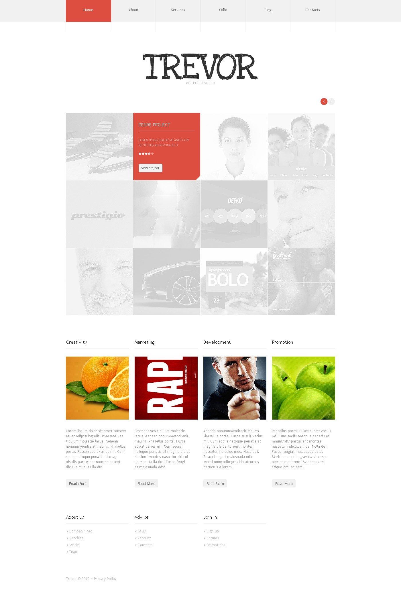 Modern Design Studio Wordpress #42498 - Ekran resmi