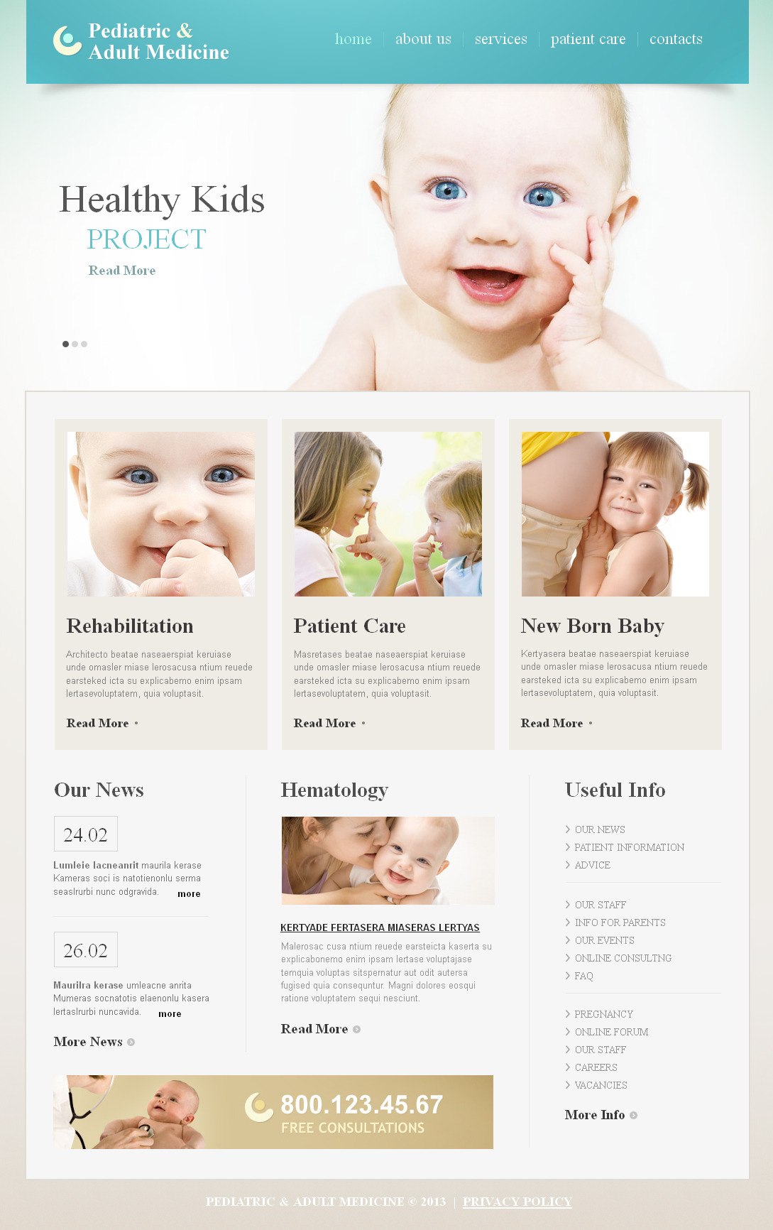 Pediatrician Moto CMS HTML Template
