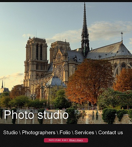 Photo Studio Facebook HTML CMS Template Facebook Screenshot