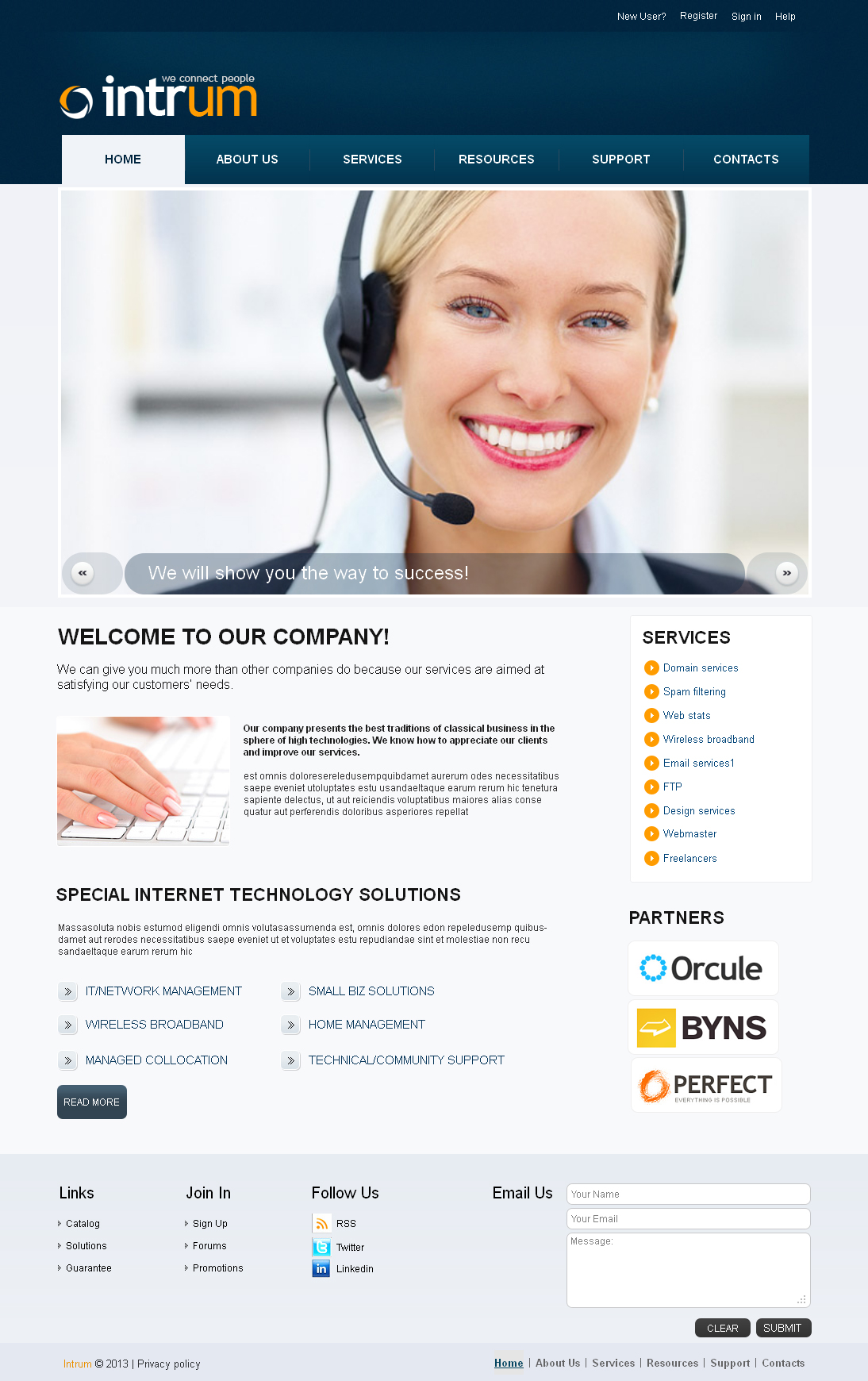 Premium Communications Templates Moto Cms Html #42456