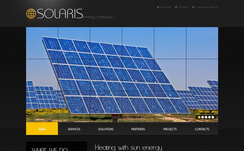 Premium Moto CMS HTML Template over Zonne-energie New Screenshots BIG