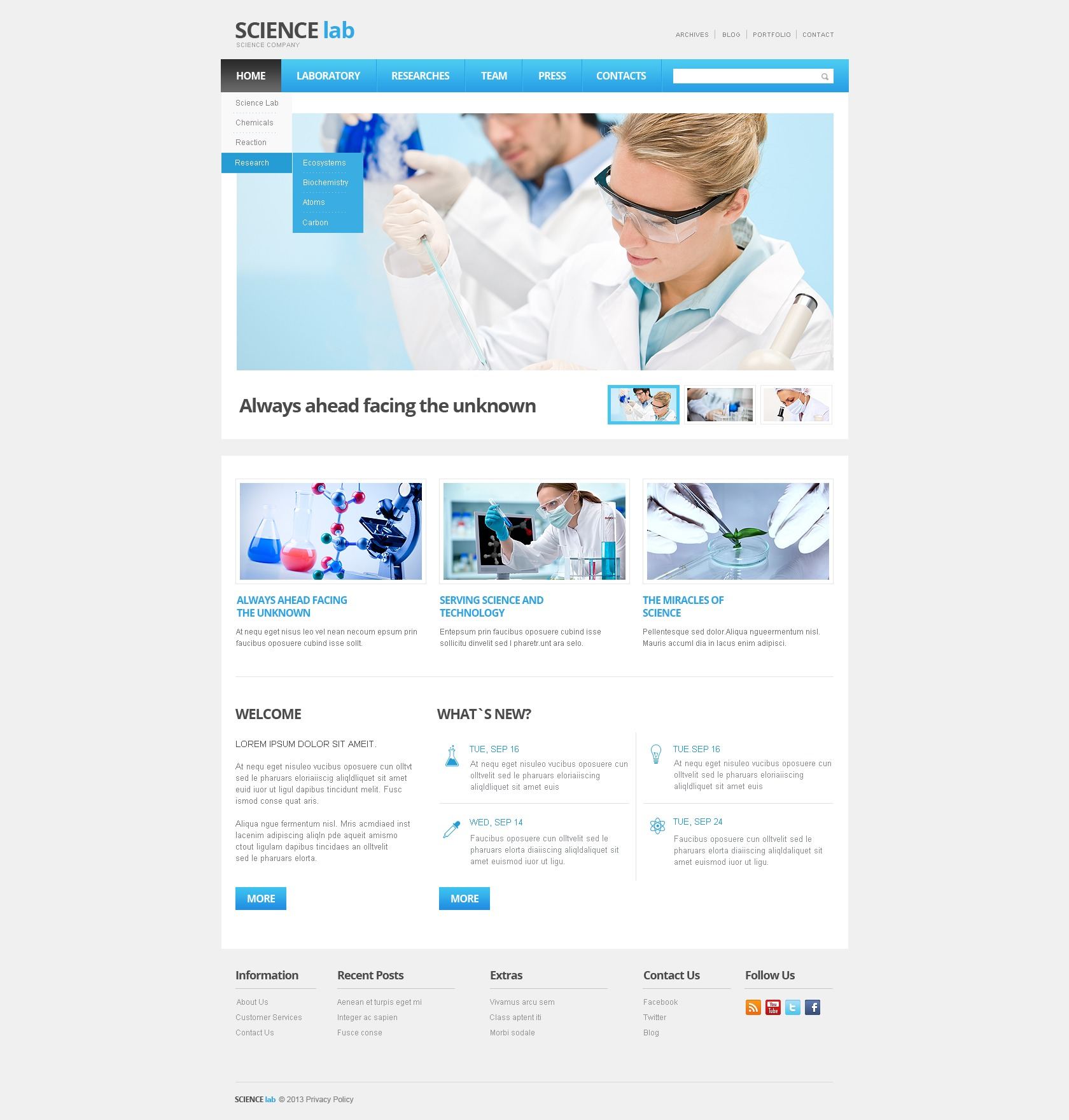 science lab website template 42481