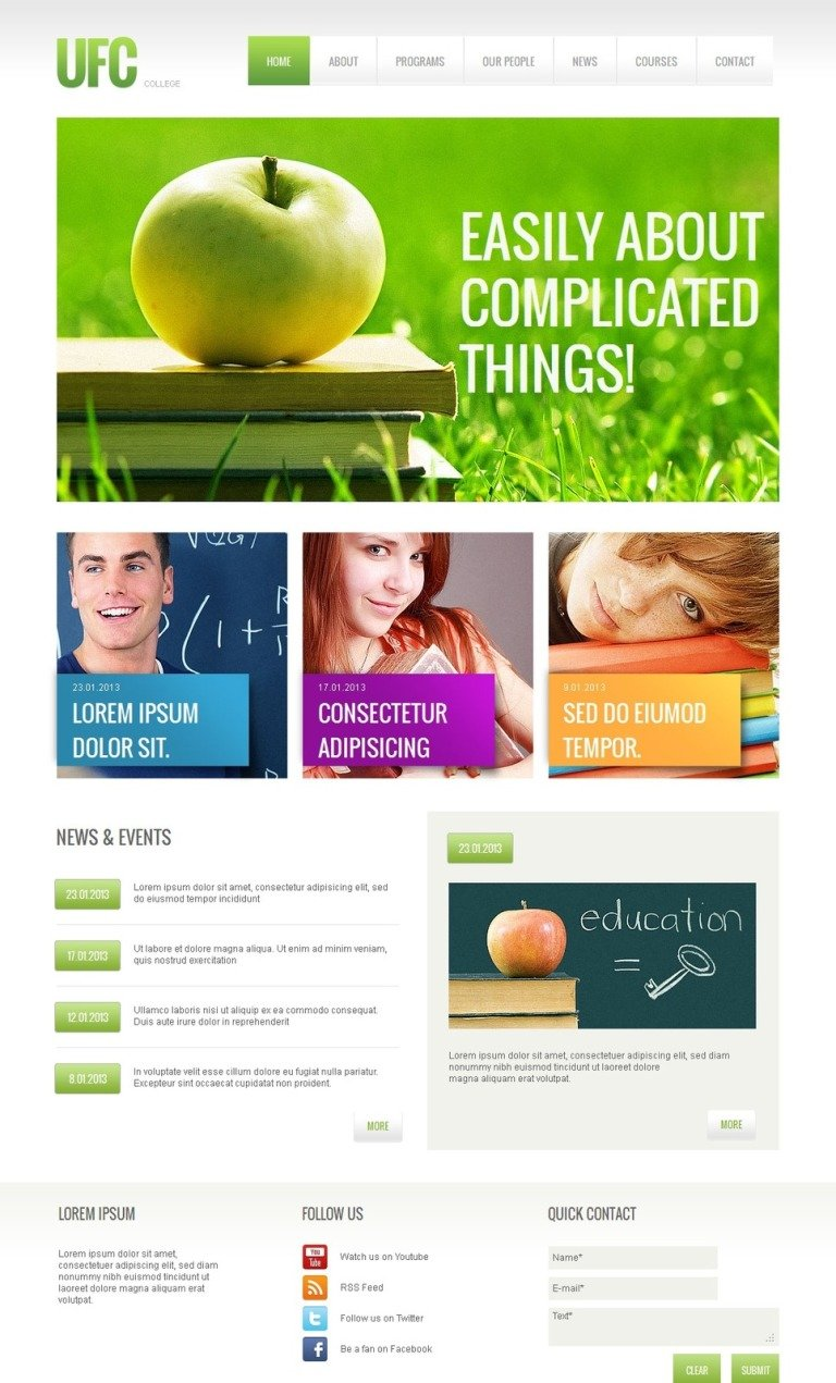 University Moto CMS HTML Template New Screenshots BIG