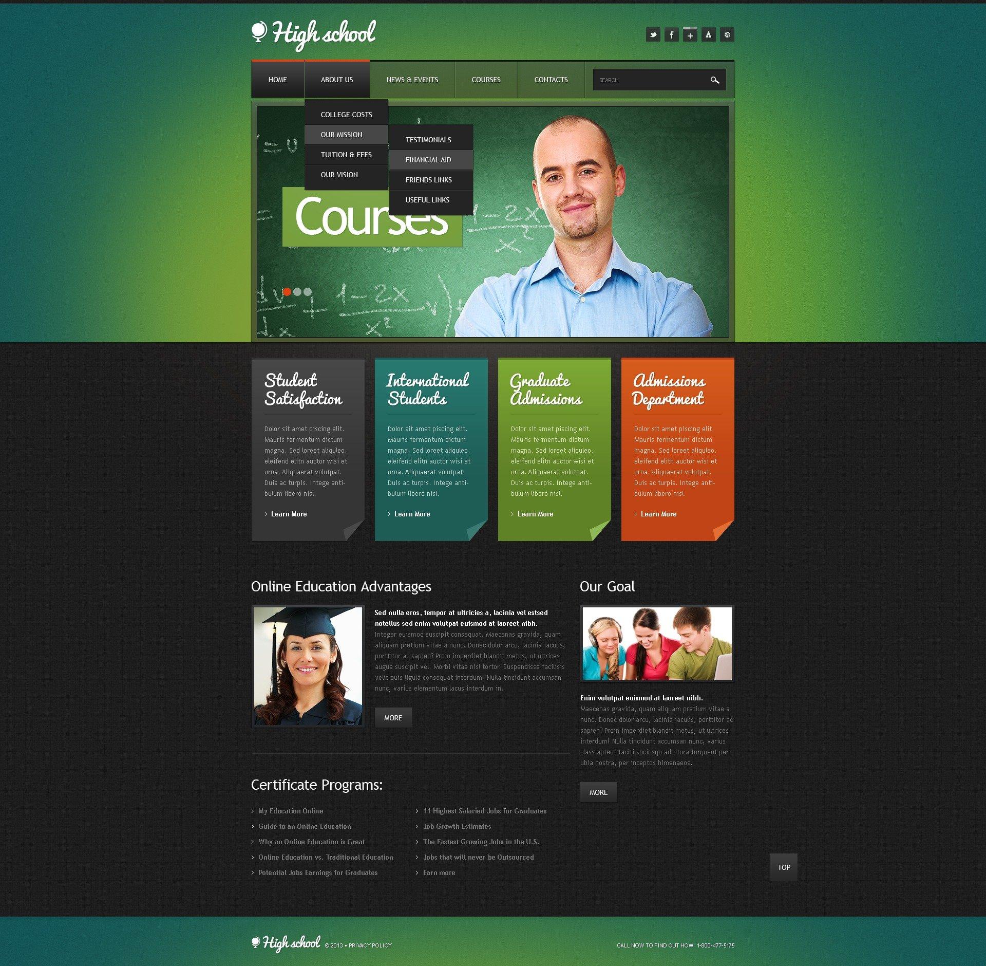 University responsive website template 42492 university responsive website template pronofoot35fo Choice Image