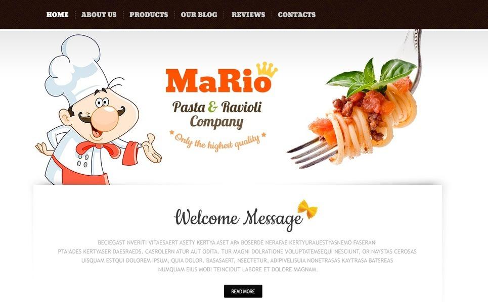 Thème Joomla  pour site d'alimentation et de boissons New Screenshots BIG
