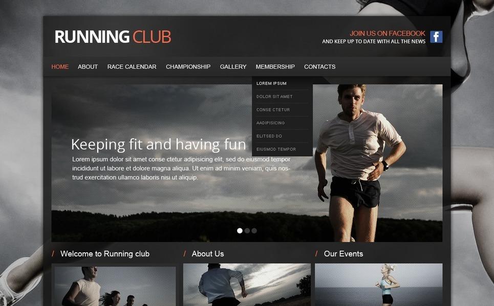 Šablona webových stránek Běh New Screenshots BIG