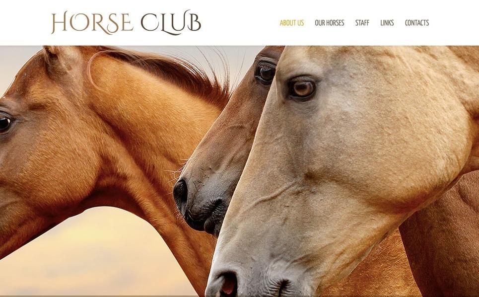 Шаблон сайту на тему коні New Screenshots BIG