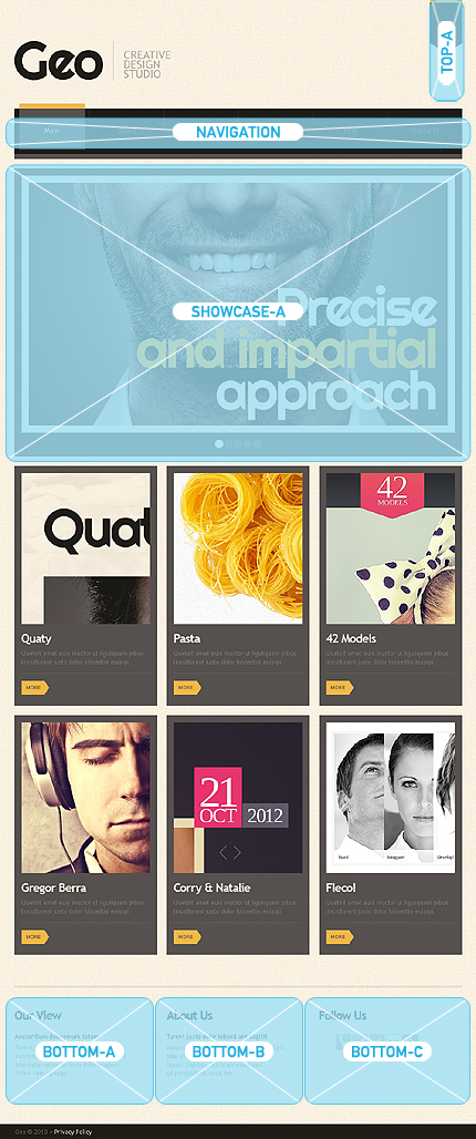Joomla Theme/Template 42547 Main Page Screenshot