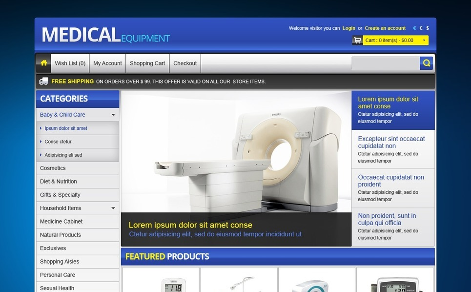OpenCart Template over Medische Apparatuur New Screenshots BIG