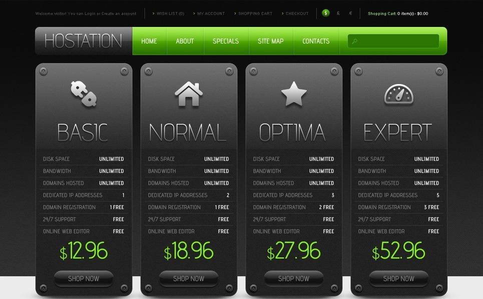 OpenCart Template over Hosting  New Screenshots BIG