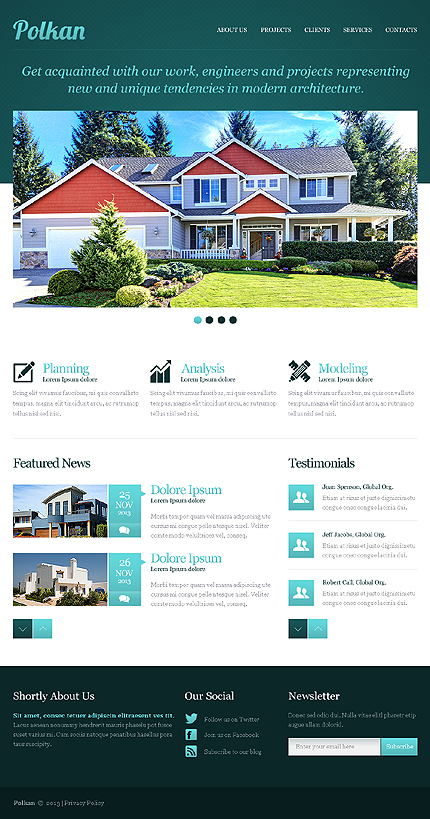 Template #42556 Real Estate Responsive Template - Desktop Layout