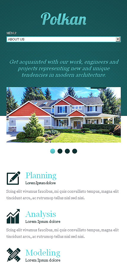 Template #42556 Real Estate Responsive Template - Smartphone Layout 1