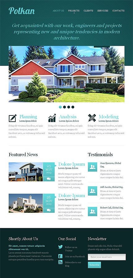 Template #42556 Real Estate Responsive Template - Tablet Layout