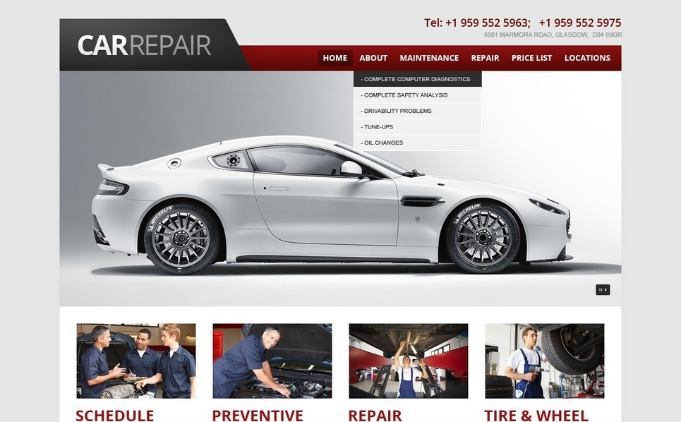 Website Vorlage für Autoreparatur  New Screenshots BIG