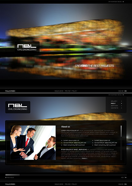 ADOBE Photoshop Template 42562 Home Page Screenshot