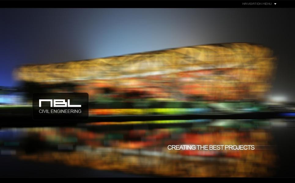 Luxusní Flash CMS šablona na téma Stavební společnosti New Screenshots BIG