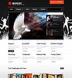 Charity Flash CMS  Template 42565