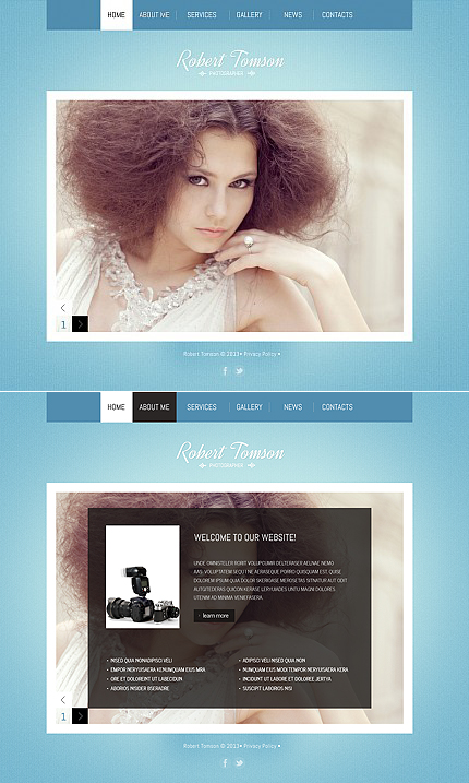 ADOBE Photoshop Template 42566 Home Page Screenshot