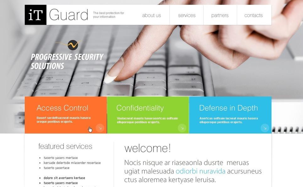 Flash CMS шаблон на тему інформаційна безпека New Screenshots BIG