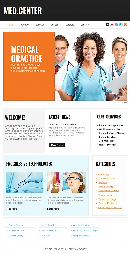 ADOBE Photoshop Template 42575 Home Page Screenshot