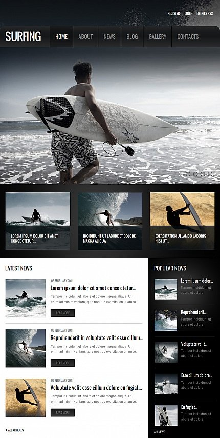 ADOBE Photoshop Template 42580 Home Page Screenshot