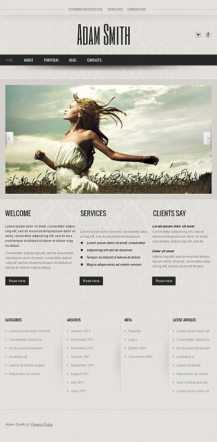 ADOBE Photoshop Template 42587 Home Page Screenshot