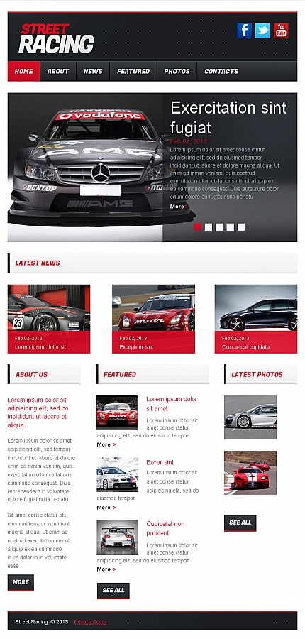 ADOBE Photoshop Template 42590 Home Page Screenshot