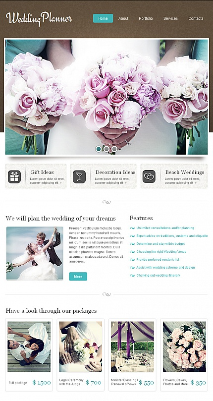 ADOBE Photoshop Template 42591 Home Page Screenshot