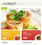Cafe & Restaurant Facebook HTML CMS  Template 42593