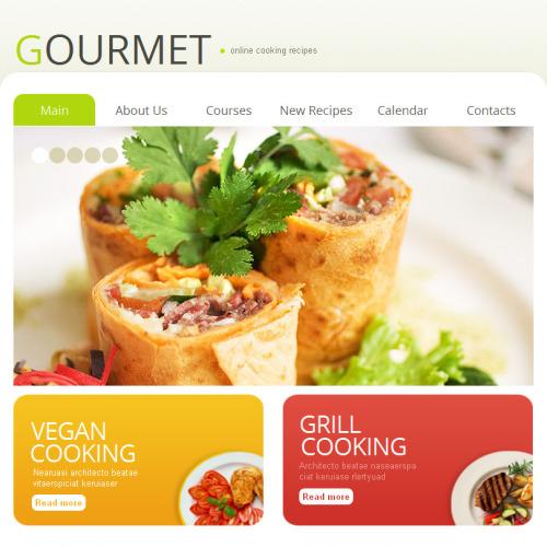 Gourmet - Facebook HTML CMS Template