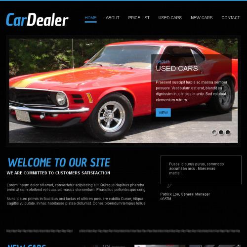 Car Dealer - Facebook HTML CMS Template