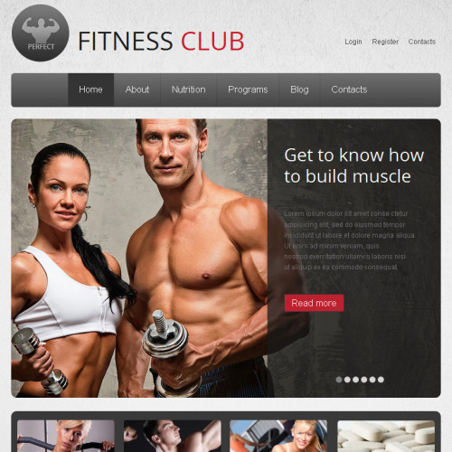 Fitness Club - Facebook HTML CMS Template