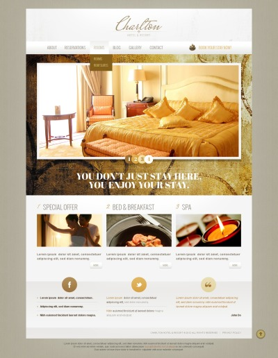 Hotel and Resort Business Drupal Template