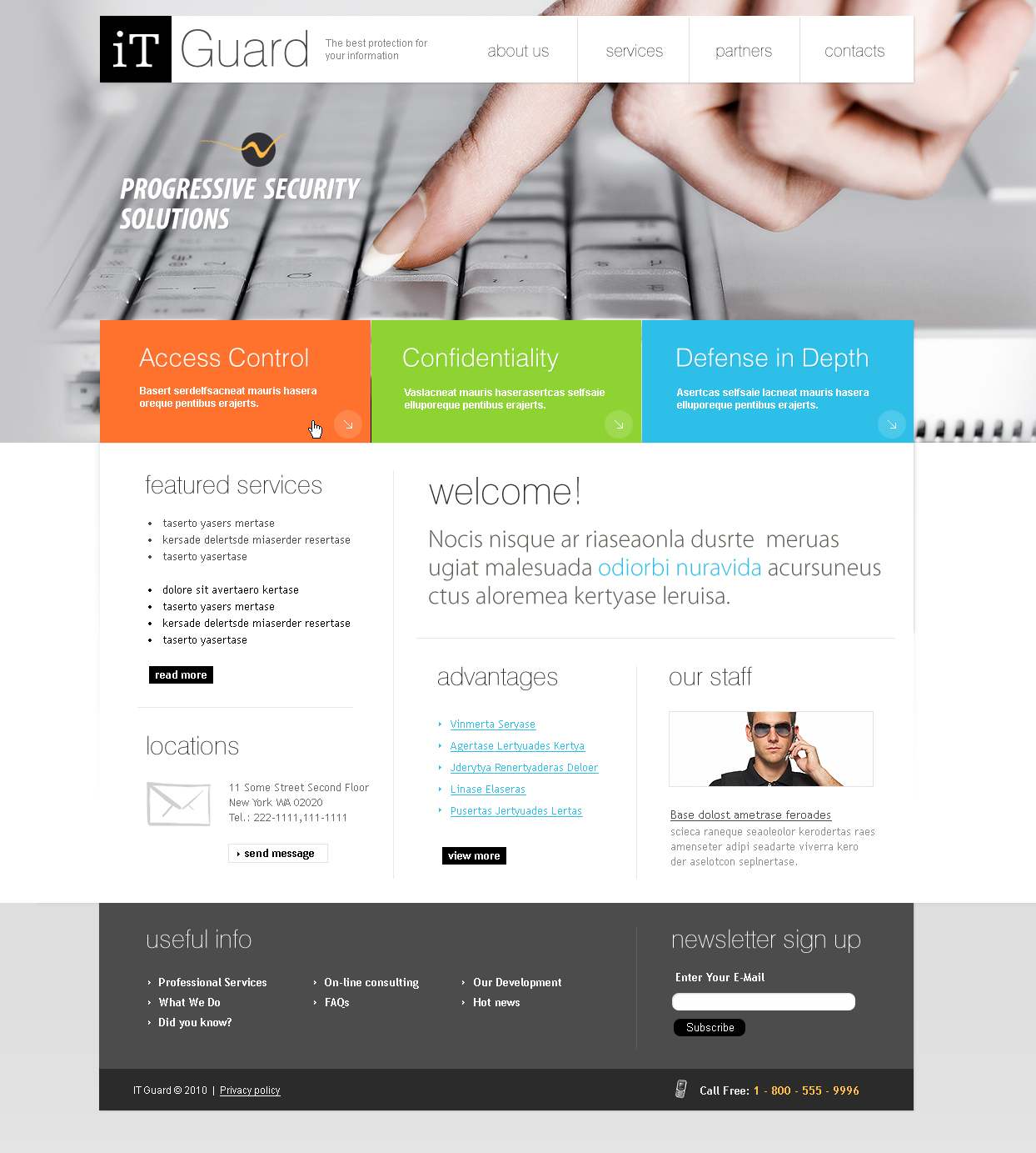 Information Security Flash CMS Template - Information website template