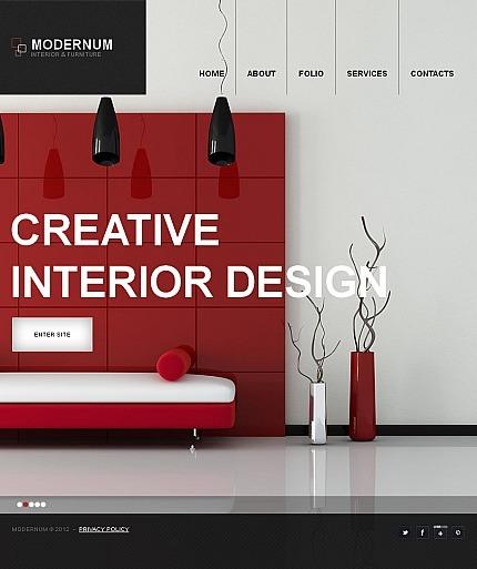 Interior Design Facebook HTML CMS Template Facebook Screenshot