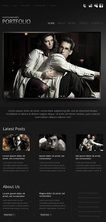 Photographer Portfolio Facebook HTML CMS Template Facebook Screenshot