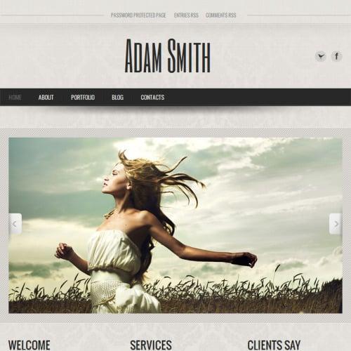 Adam Smith - Facebook HTML CMS Template