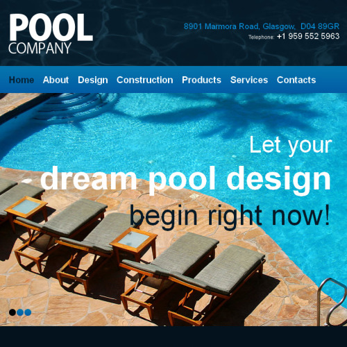 Pool Company - Facebook HTML CMS Template