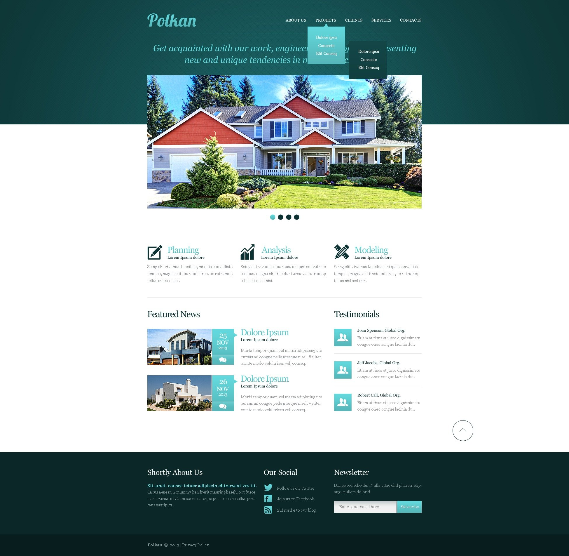 Real Estate Agency Responsive Website Template - screenshot