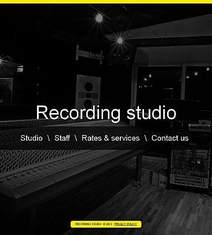 Recording Studio Facebook HTML CMS Template Facebook Screenshot