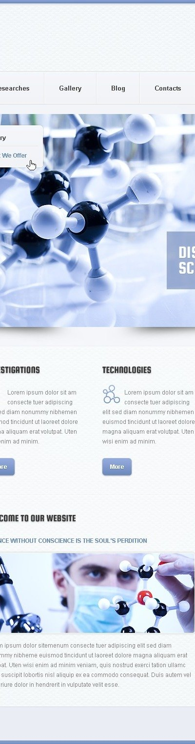 Silver Science Lab Drupal Template
