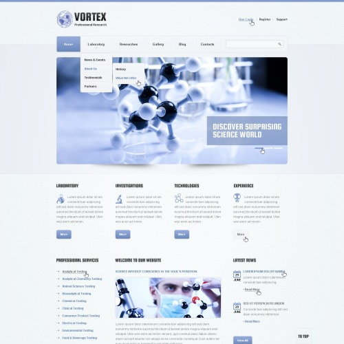 Vortex - Responsive Drupal Template