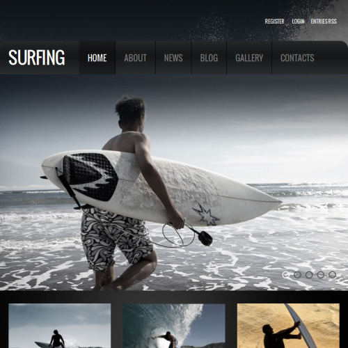 Surfing - Facebook HTML CMS Template