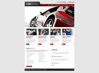 Car Repair Template Siti Web