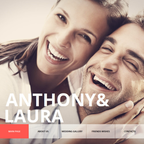 Anthony & Laura - Facebook HTML CMS Template