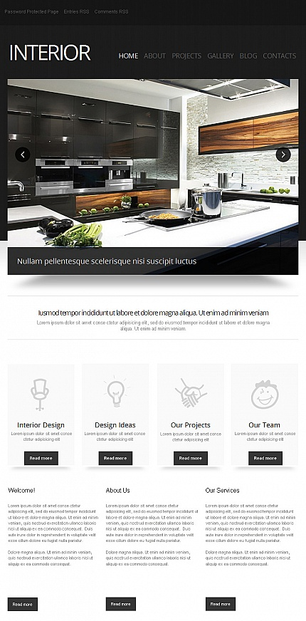 ADOBE Photoshop Template 42600 Home Page Screenshot