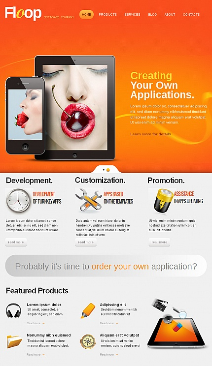 ADOBE Photoshop Template 42610 Home Page Screenshot