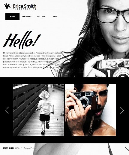 ADOBE Photoshop Template 42611 Home Page Screenshot